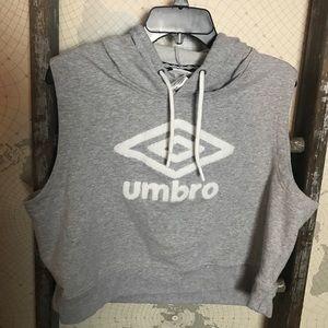 Umbro cropped hoodie sleeveless XL